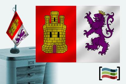 Bandera de Cáceres  sobremesa bordada