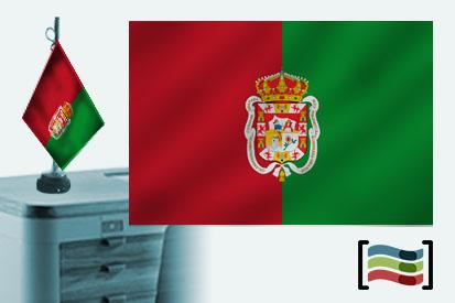 Bandera de Granada sobremesa bordada
