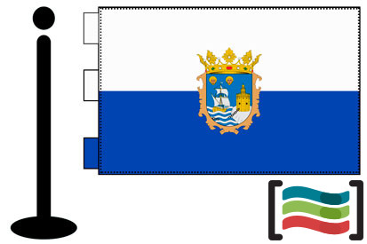 Bandera de Santander sobremesa bordada