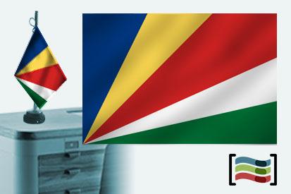 Bandera de Seychelles sobremesa bordada