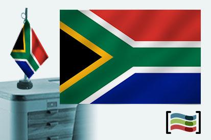 Bandera de Sudáfrica sobremesa bordada