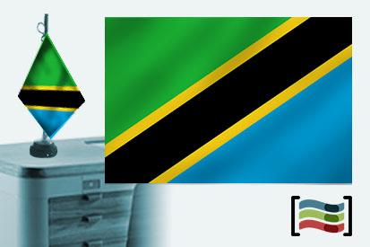 Bandera de Tanzania sobremesa bordada