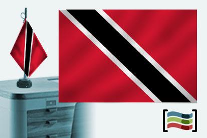 Bandera de Trinidad y Tobago sobremesa bordada