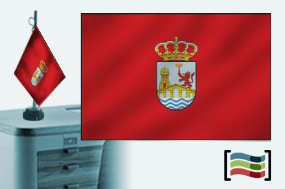 Bandera de Ourense sobremesa bordada