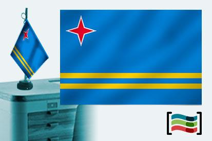 Bandera de Aruba sobremesa bordada
