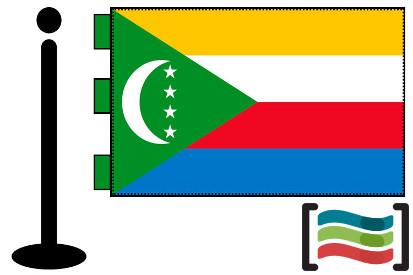 Bandera de Comores sobremesa bordada