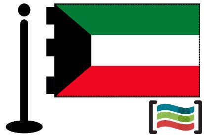 Bandera de Kuwait sobremesa bordada