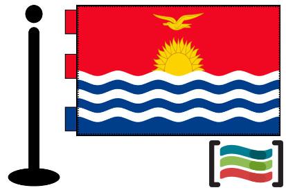 Bandera de Kiribati sobremesa bordada