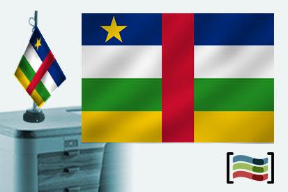 Bandera de República Centroafricana sobremesa bordada