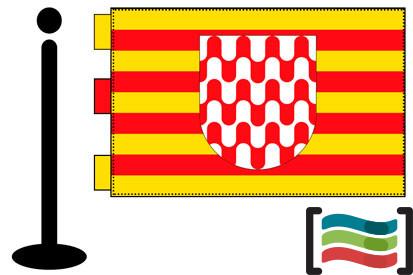 Bandera de Girona sobremesa bordada