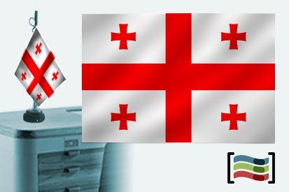 Bandera de Georgia sobremesa bordada