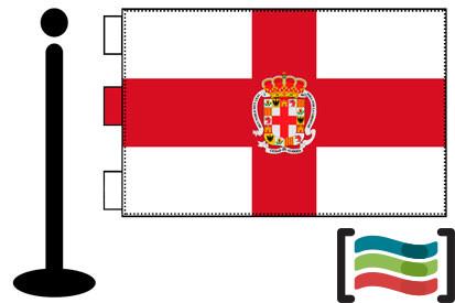 Bandera de Almería sobremesa bordada