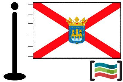 Bandera de Logroño sobremesa bordada