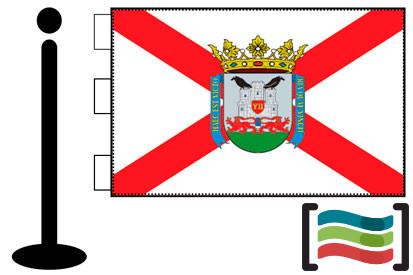 Bandera de Vitoria sobremesa bordada