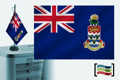 Bandera de Cayman (islas) sobremesa bordada