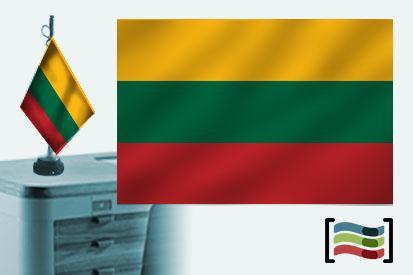 Bandera de Lituania sobremesa bordada