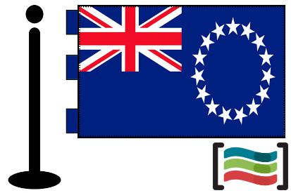 Bandera de Cook (islas) sobremesa bordada