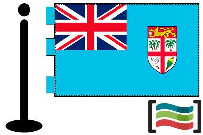 Bandera de Fidji sobremesa bordada