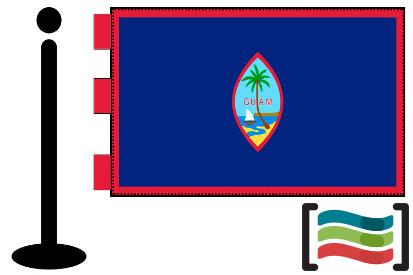 Bandera de Guam sobremesa bordada