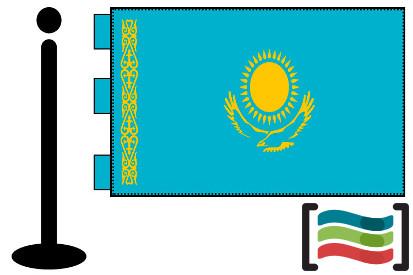 Bandera de Kazajstan sobremesa bordada