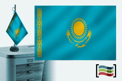Bandera de Kazajistan sobremesa bordada