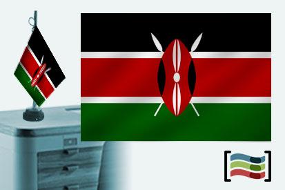 Bandera de Kenia sobremesa bordada