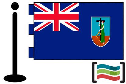 Bandera de Montserrat (islas) sobremesa bordada