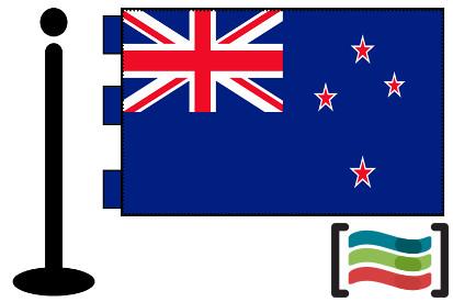 Bandera de Nueva Zelanda sobremesa bordada