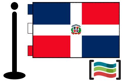 Bandera de República Dominicana sobremesa bordada