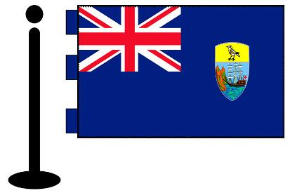 Bandera de Santa Helena sobremesa bordada
