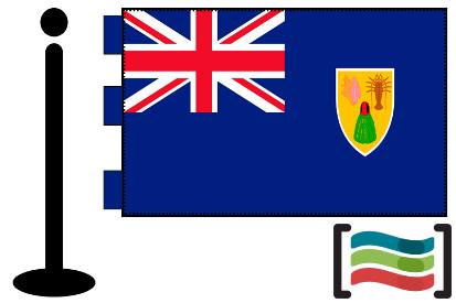 Bandera de Turks y Caicos sobremesa bordada