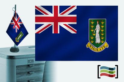 Bandera de Islas Vírgenes Británicas sobremesa bordada