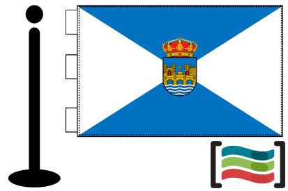 Bandera de Pontevedra sobremesa bordada