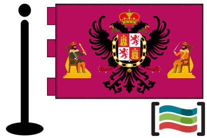 Bandera de Toledo sobremesa bordada