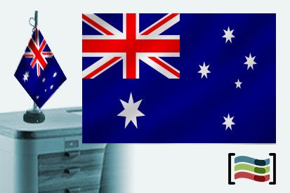 Bandera de Australia sobremesa bordada