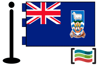 Bandera de Maldivas sobremesa bordada