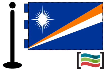 Bandera de Islas Marshall sobremesa bordada