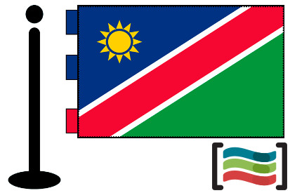 Bandera de Namibia sobremesa bordada