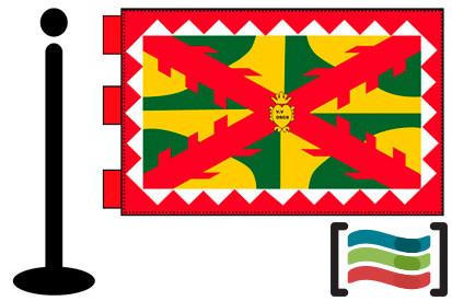 Bandera de Huesca sobremesa bordada