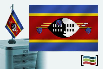 Bandera de Swaziland sobremesa bordada
