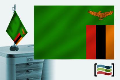 Bandera de Zambia sobremesa bordada