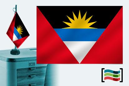 Bandera de Antigua y Barbuda sobremesa bordada