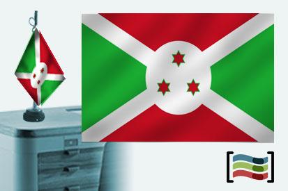 Bandera de Burundi sobremesa bordada