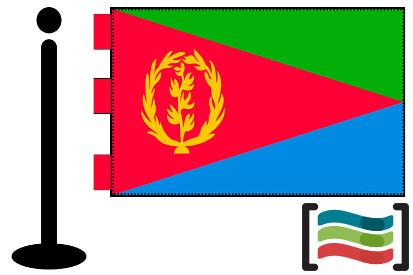 Bandera de Eritrea sobremesa bordada