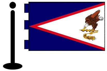 Bandera de Samoa Americana sobremesa bordada
