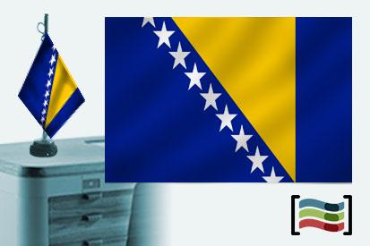 Bandera de Bosnia y Herzegovina sobremesa bordada
