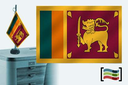 Bandera de Sri Lanka sobremesa bordada