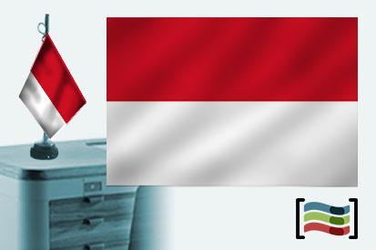 Bandera de Monaco sobremesa bordada