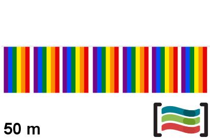 Banderines de plástico Orgullo Gay 50m