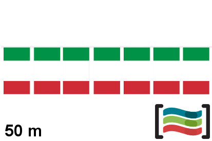 Banderines de plástico Italia 50m